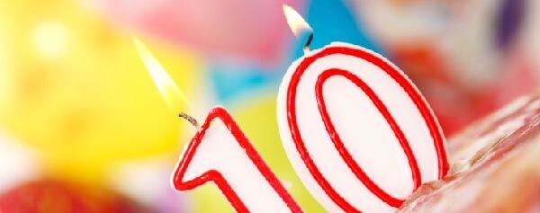 Envie uma frase de aniversário para comemorar 10 anos de casados.
