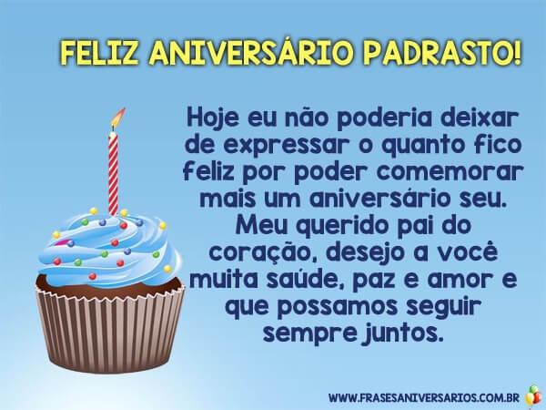 Mensagem de aniversário para Padrasto