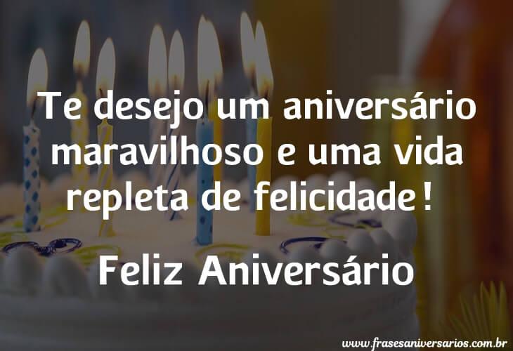 Te desejo um aniversário maravilhoso