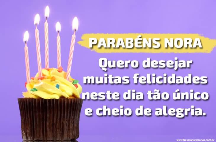Mensagem de Aniversário para Nora